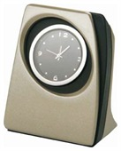Pearl Nickel Desk Clock