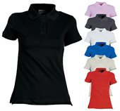 Pique Knit Fitted Cotton Spandex Polo