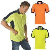 Poly Cotton Contrast Polo Shirt Short Sleeve