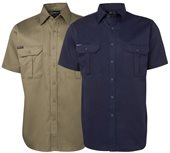 Pre Shrunk Cotton Drill Work Shirt Short Sleeve