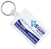 Rectangle Rubber Keyring