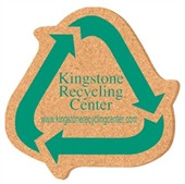 Recycle Sign Shaped Cork Coaster