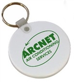 Round Rubber Keyring