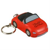 Sports Car Stress Shape Keyring