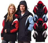 Tri Colour Jacket with Hood
