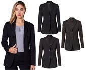 Womens Wool Blend Mid Length Jacket